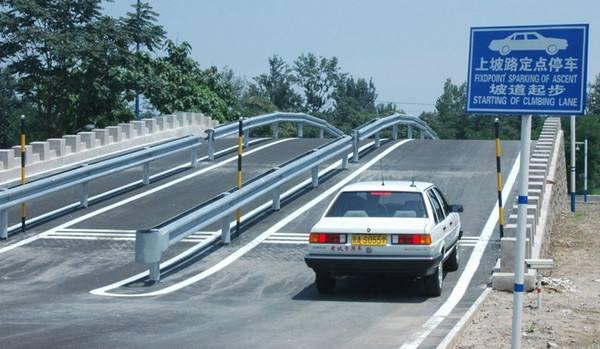 武汉驾校学车:坡道定点停车怎么找点准确?